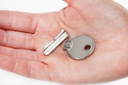 Durchgebrochener Schlüssel