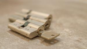 Schlüssel im Schließzylinder