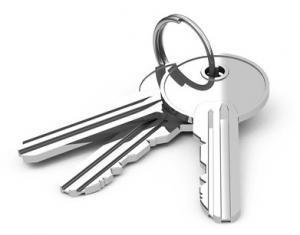 Schlüssel am Schlüsselbund