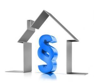 Blauer Paragraph in Haussymbol