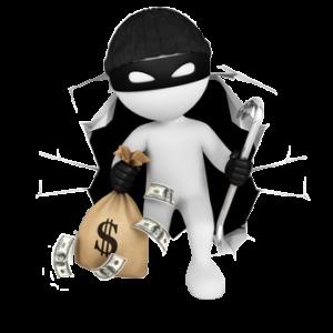 Einbrecher mit Geld